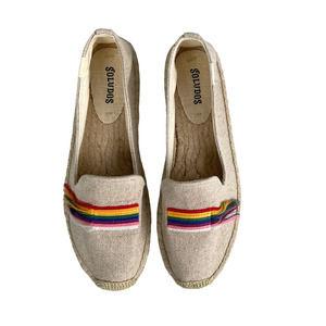 Soludos Pride Rainbow Fringe Espadrille Loafers